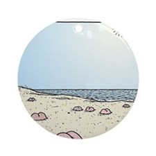 Beach Bums Round Ornament