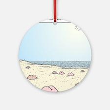 Beach Bums Round Ornament