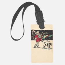 fox terrier holiday Luggage Tag