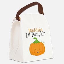 Daddys Little Pumpkin Canvas Lunch Bag