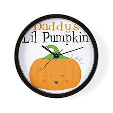 Daddys Little Pumpkin Wall Clock