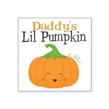 "Daddys Little Pumpkin Square Sticker 3"" x 3"""