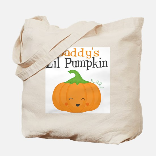 Daddys Little Pumpkin Tote Bag