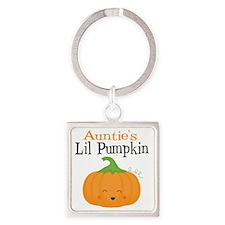 Aunties Little Pumpkin Square Keychain