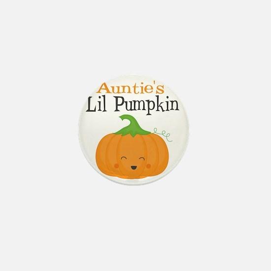 Aunties Little Pumpkin Mini Button