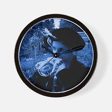 Blue tudor lady Wall Clock