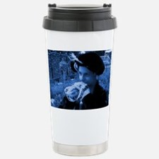 Blue tudor lady Stainless Steel Travel Mug