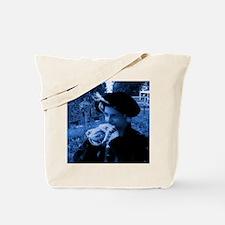 Blue tudor lady Tote Bag