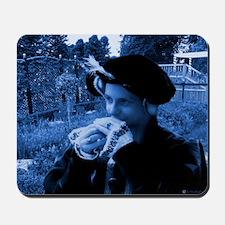 Blue tudor lady Mousepad