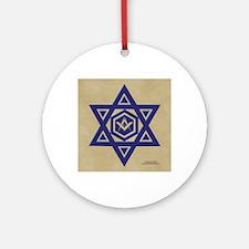 Masonic Star of David Round Ornament