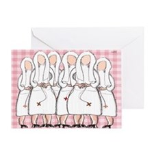 nun blanket pink Greeting Card