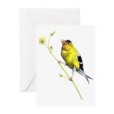 Yellow Finch - Get a Grip - Artwork  Greeting Card