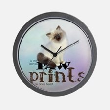 cat3_shower_curtain Wall Clock