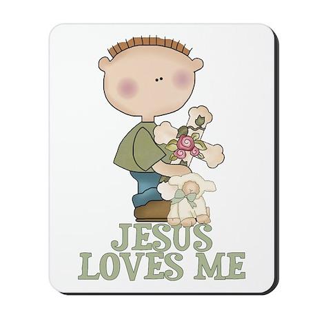 Jesus Loves Me (Boy) Mousepad