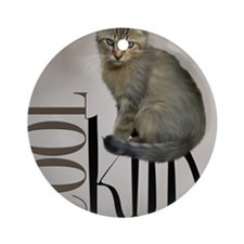 cat4_shower_curtain Round Ornament