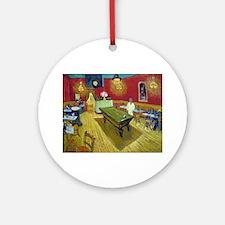 Vincent Van Gogh Night Cafe Round Ornament