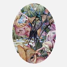 Edward Julius Detmold Tropical Birds Oval Ornament