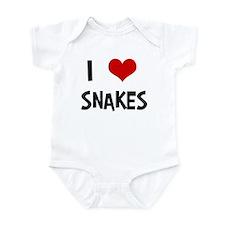 I Love Snakes Infant Bodysuit