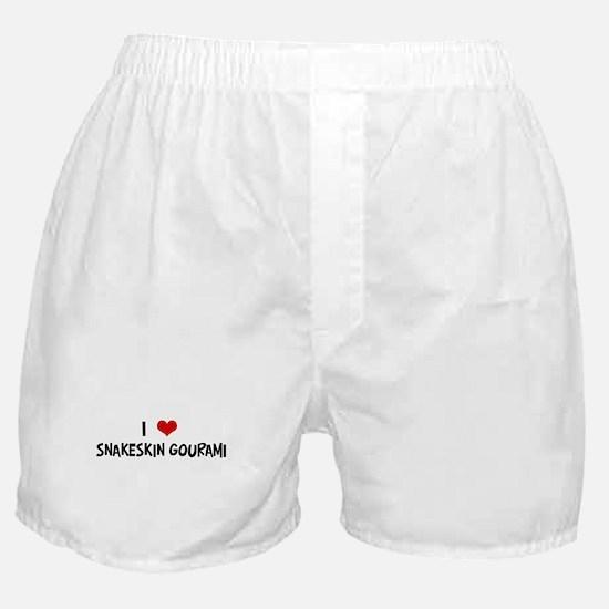 I Love Snakeskin Gourami Boxer Shorts