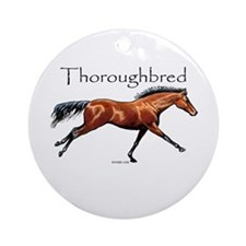 Thoroughbred Ornament (Round)
