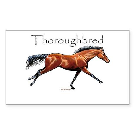 Thoroughbred Rectangle Sticker
