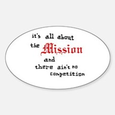 All About the Mission Oval Decal