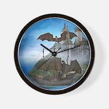 dc_shower_curtain Wall Clock