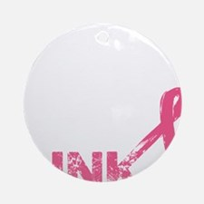 Real men wear pink Round Ornament