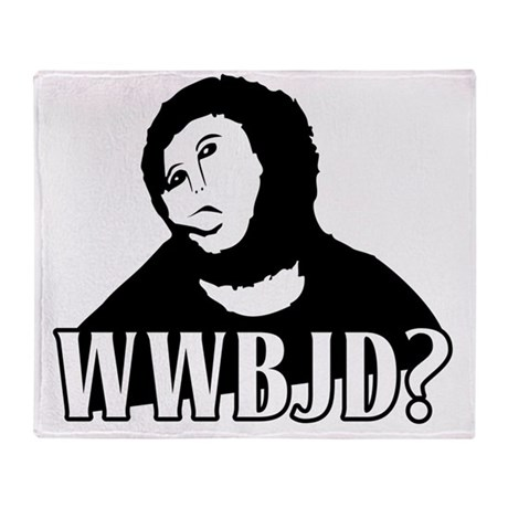 WWBJD? - What Would Beast Jesus Do? Throw Blanket
