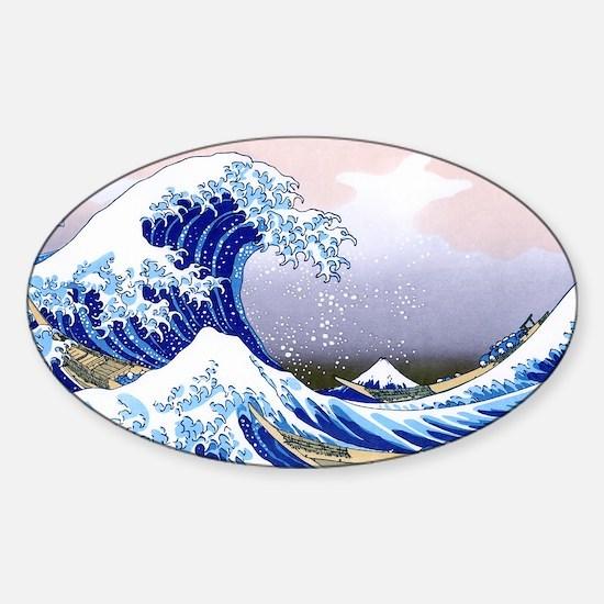 LAPTOP -Gr8 Wave-Hokusai Sticker (Oval)
