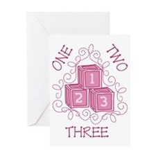 One Two Three Greeting Card