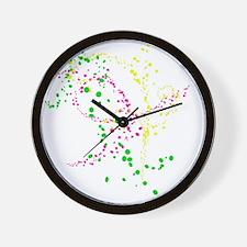 Neon Splatters Wall Clock