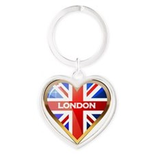 London Heart Keychain