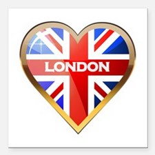 "London Square Car Magnet 3"" x 3"""
