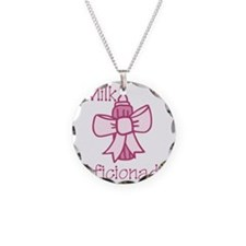 Milk Aficionado Necklace Circle Charm