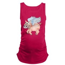 flying Pig 2 Maternity Tank Top