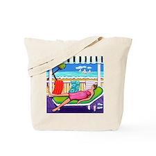 Seaside Siesta Beach Throw Pillow Tote Bag