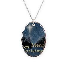 The Bethlehem Star Necklace Oval Charm