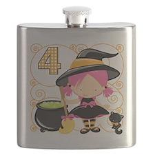 Girl Halloween 4 Flask