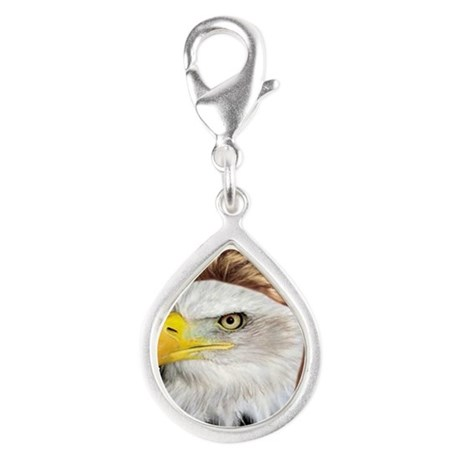 'Merica! Silver Teardrop Charm