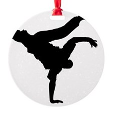 BBOY silhouette blk Ornament