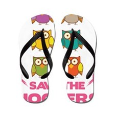 Save the hooters Flip Flops