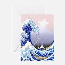 IPAD  Folio 3 -Gr8 Wave-Hokusai Greeting Card