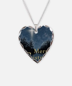 The Bethlehem Star Necklace Heart Charm