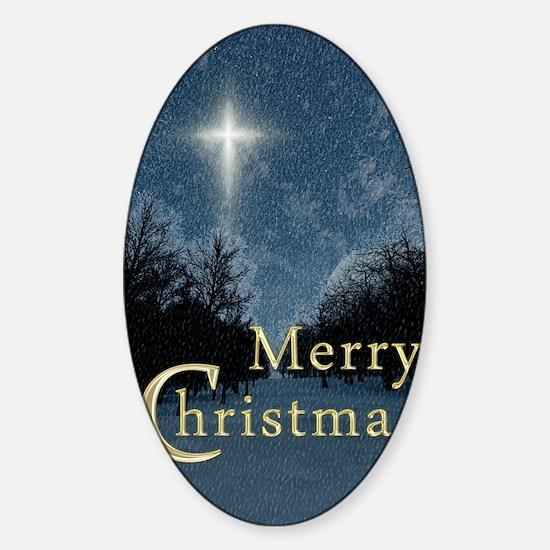 The Bethlehem Star Sticker (Oval)