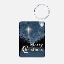 The Bethlehem Star Aluminum Photo Keychain