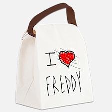 i love Halloween Freddy Canvas Lunch Bag