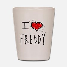 i love Halloween Freddy Shot Glass