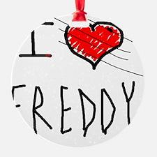 i love Halloween Freddy Ornament