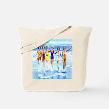 Florida Bathing Beauties Pillow Tote Bag